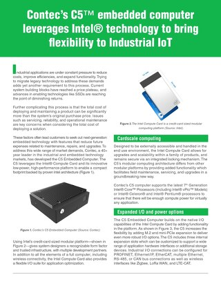 Contec's C5TM embedded computer leverages Intel® technology to bring  exibility to Industrial IoT