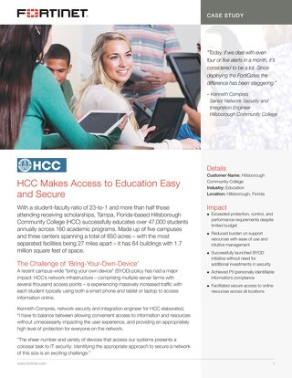 HCC Makes Access to Education Easy and Secure