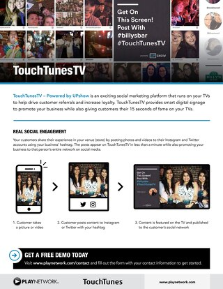 TouchTunes TV Product Sheet