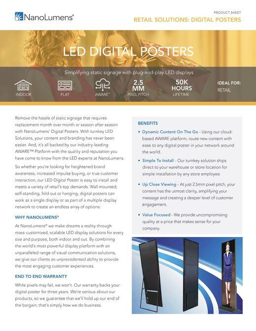 NanoLumens Digital Posters