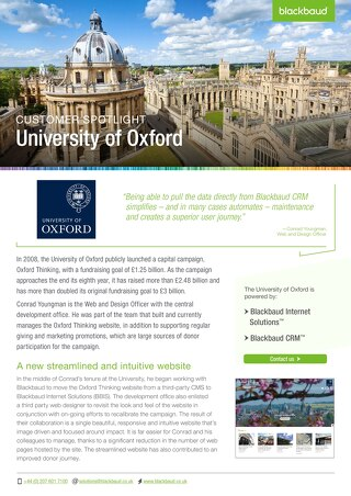 University Of Oxford | Blackbaud CRM