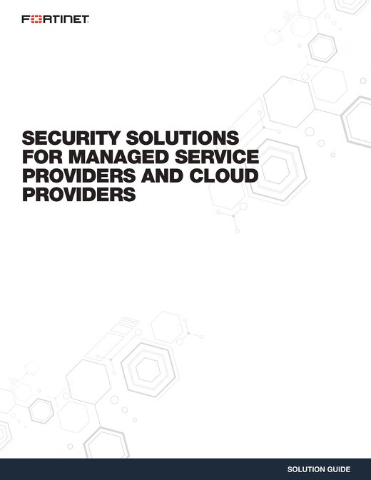 Security Solutions For Managed Service Providers and Cloud Providers