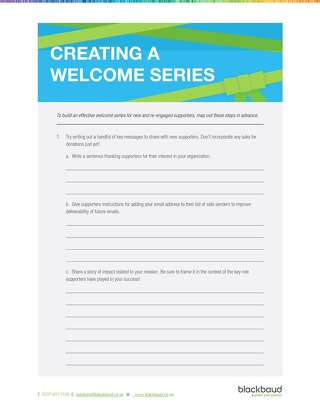 End-of-Year Creating Welcome Series Worksheet