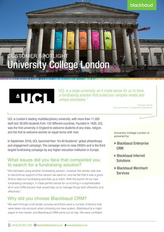 University College London | Blackbaud CRM