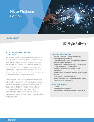 Nlyte Platinum Edition Product 2018