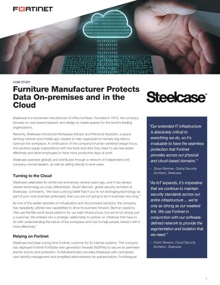 Case Study: Furniture Manufacturer Protects Data Onsite and in The Cloud