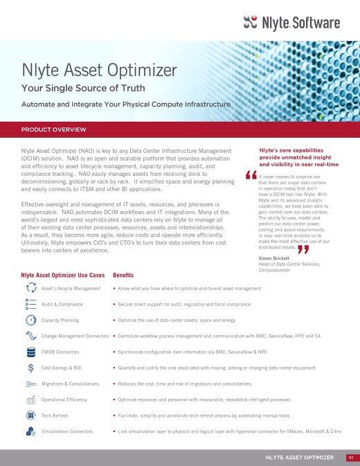 Nlyte Asset Optimizer