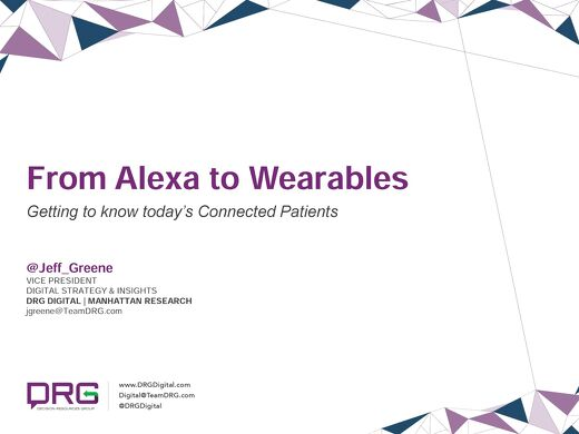 From Alexa to Wearables: Getting to know today's Connected Patients
