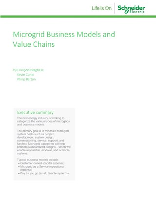 Microgrid Business Models & Value Chains