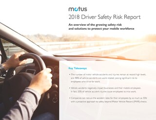2018 Driver Safety Risk Report