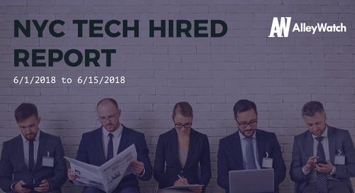 NYC Tech Hired: 6/15/18