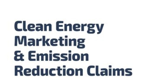Clean Energy Marketing & Emission Reduction Claims