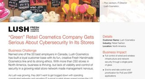 """Green"" Retail Cosmetics Company Gets Serious About Cybersecurity In Its Stores"