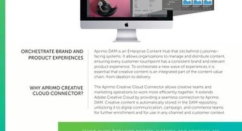 Aprimo Creative Cloud Connector