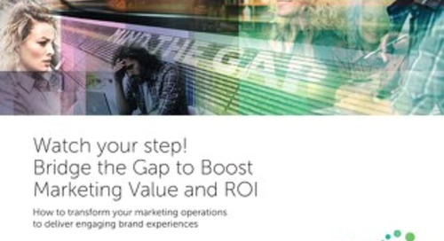 Watch your step! Bridge the Gap to Boost Marketing Value and ROI