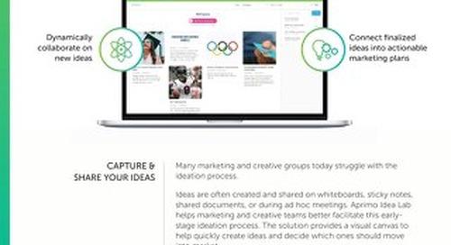 Aprimo Idea Lab Data Sheet