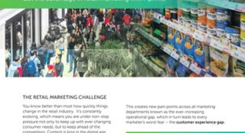 Get the advantage in retail marketing with Aprimo (One-Pager)
