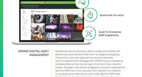 Aprimo Digital Asset Management – Content Library Data Sheet