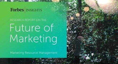 The Future of Marketing Research Report with Forbes