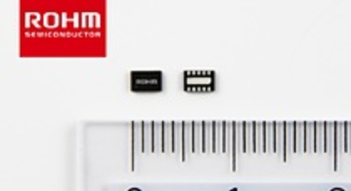 ROHM's boost converter provides 1.3x longer battery life
