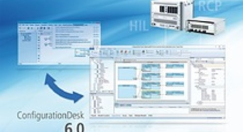 dSPACE ConfigurationDesk 6.0 improves user interface
