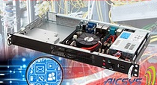 AICSYS Inc - NDS-102M: 1U Mini-ITX Barebones Chassis for Network Digital Signage Systems