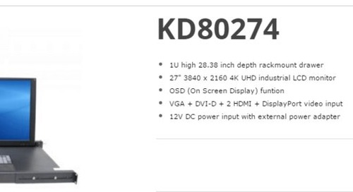 """The KD80274 is a 27"""" Ultra High Resolution LCD"""
