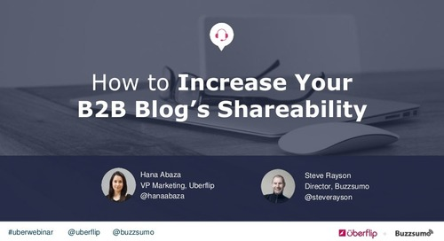 How to Increase Your B2B Blog's Shareability
