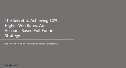 The Secret To Achieving 10% Higher Win Rates in An Account-Based Full-Funnel Strategy