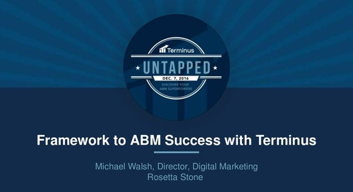 Framework to ABM Success with Terminus