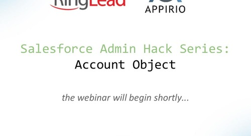 Salesforce Admin Hack Series: Account Object