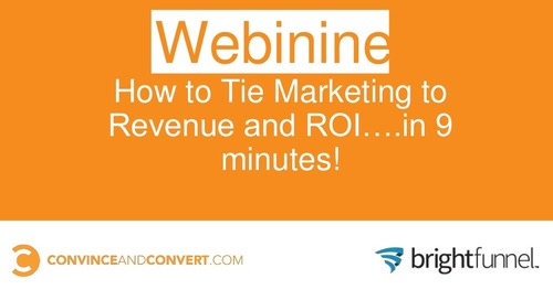 How to Tie Marketing to Revenue and ROI