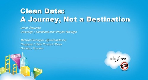 Clean Data: A Journey Not a Destination