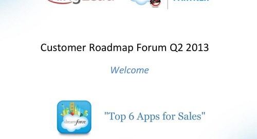 RingLead Customer Forum Q2 2013