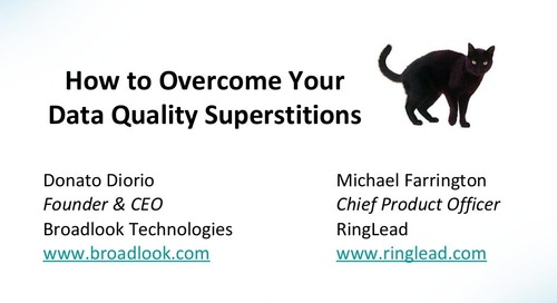 How to Overcome Your Data Quality Superstitions