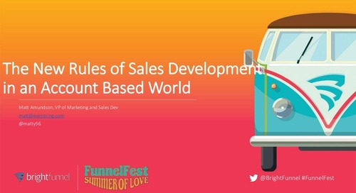 The New Rules of Sales Development in an Account-Based World
