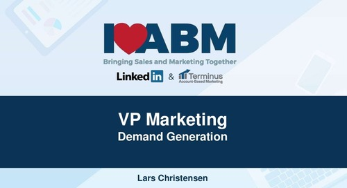 ABM Case Study – Lars Christensen, VP of Marketing at Snowflake Computing