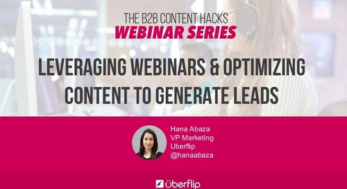 Leveraging Webinars & Optimizing Content to Generate Leads