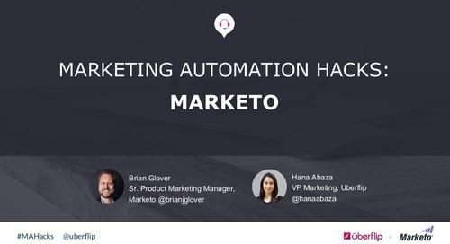 Marketing Automation Hacks 2016: Marketo