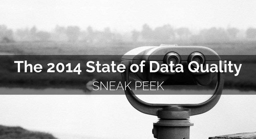 Preliminary Findings: The 2014 State of Data Quality