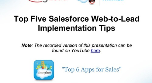 Top Five Salesforce Web-to-Lead Implementation Tips