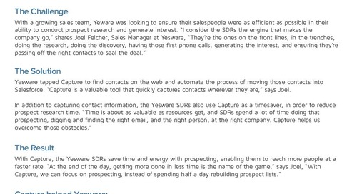 How Yesware Uses RingLead for Sales Growth