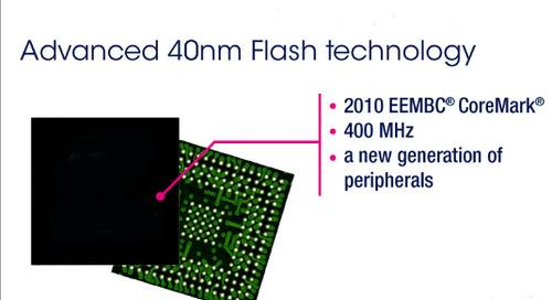 40-nm Cortex-M7 MCU ups performance/density levels