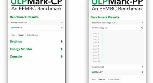 EEMBC low-power peripheral benchmark verifies holistic MCU energy consumption