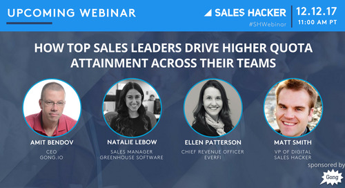 How Top Sales Leaders Drive Higher Quota Attainment Across Their Teams