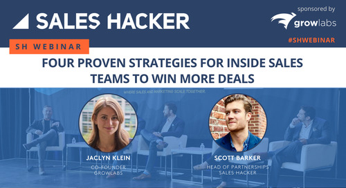 Four Proven Strategies for Inside Sales Teams to Win More Deals