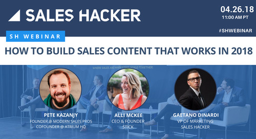 How to Build Sales Content that Works in 2018