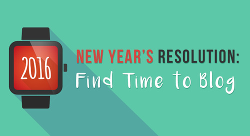 New Year's Resolution: Find Time to Blog