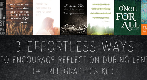3 Effortless Ways to Encourage Reflection During Lent (+ FREE graphics kit)