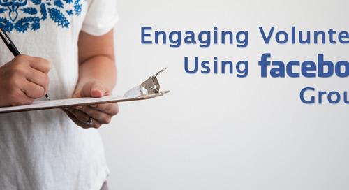 Engaging Volunteers Using Facebook Groups